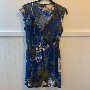 AQUA Blue Print Mini Dress